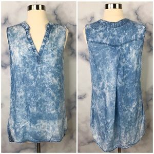 Cloth & Stone High-Low Chambray Tank Top